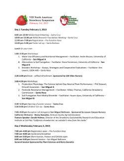 Download the Full Program - North American Strawberry Growers