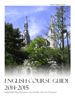 Undergraduate Course Listings, 2014-15 Academic Year