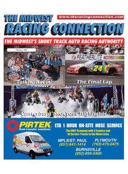 2015 February Issue - The Midwest Racing Connection