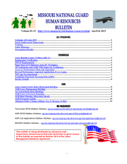 HR Bulletin Jan/Feb 2015 - Missouri National Guard