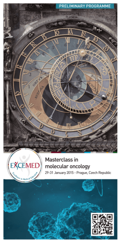 Masterclass in molecular oncology