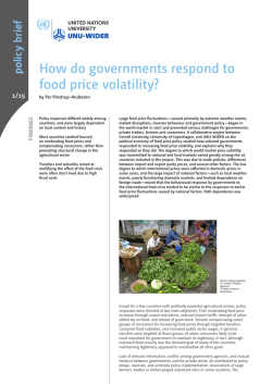 How do governments respond to food price volatility? - unu