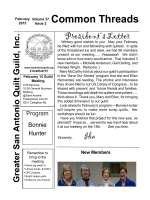 Current Newsletter - Greater San Antonio Quilt Guild