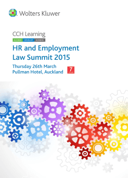 HR and Employment Law Summit 2015