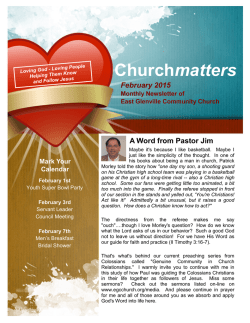 Latest Newsletter On-line - East Glenville Community Church