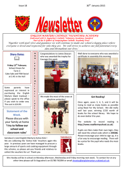 Newsletter - English Martyrs