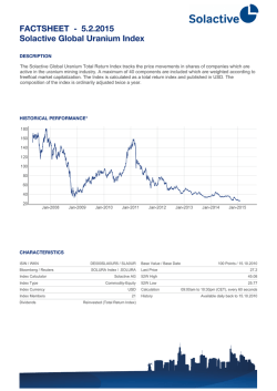 FACTSHEET - Solactive Global Uranium Index 30.1.2015