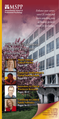 Continuing Professional Education Programs