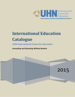 International Education Catalogue