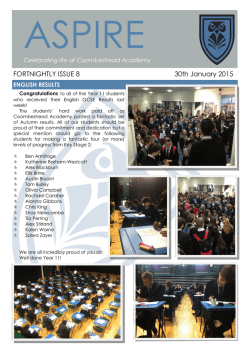 Current Issue - Coombeshead Academy