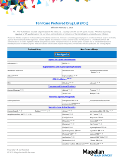 Preferred Drug List - Magellan Health Services || TennCare Portal