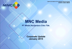 No Slide Title - PT. Media Nusantara Citra Tbk