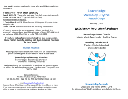 Minister: Rev. Neal Palmer - Beaverlodge United Church