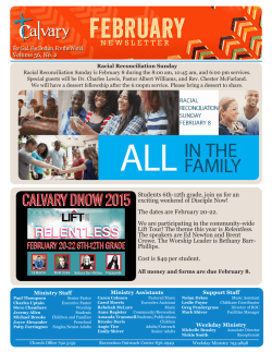 Bulletin - Calvary Baptist Church