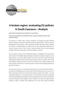 A broken region: evaluating EU policies in South Caucasus