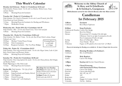 Download the weekly Parish Bulletin