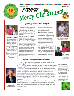 Download The Promise Holiday Newsletter