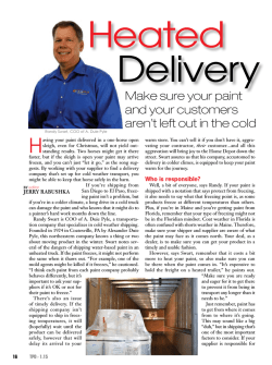 A Duie Pyle Offers Heated Delivery – The Paint Dealer