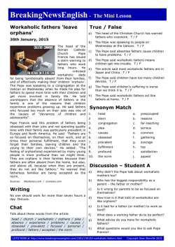 Two-Page Mini-Lesson - Breaking News English