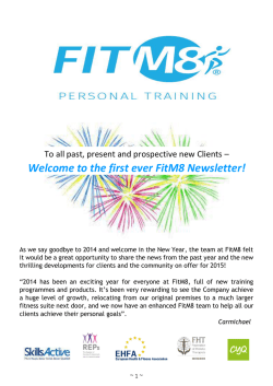 Welcome to the first ever FitM8 Newsletter!