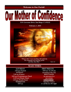 Our Bulletin - Our Mother of Confidence