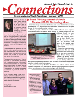 January 2015 - Neenah Joint School District
