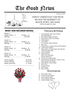 First Christian Church Newsletter