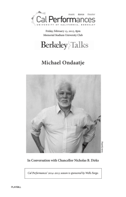 Michael Ondaatje - Cal Performances