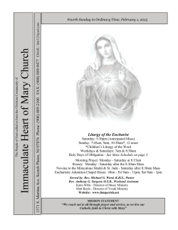 Immaculate Heart of Mary Church - John Patrick Publishing Company