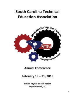 2015 Conference Brochure - South Carolina Technical Education