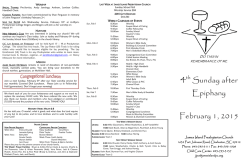 This Weeks Bulletin - James Island Presbyterian Church