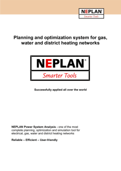 NEPLAN Gas / Water / Heating download PDF