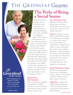 The Greenleaf Gazette - Trilogy Health Services