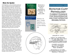 Rotator Cuff Pathology: Current Evidence for Non-Operative