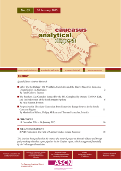 analytical digest caucasus - Center for Security Studies (CSS)