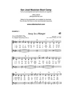 Workshop Sheet - St. Denis Choir Login