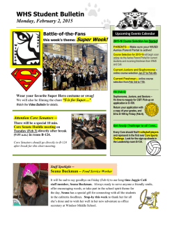 WHS Student Bulletin - Windsor High School