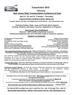 TA Conference Brochure - TransAction Conference