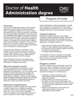 Doctor of Health Administration degree