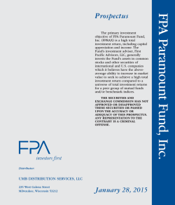 FPA Paramount Fund, Inc.