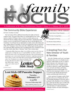 Family Focus - St. Johns Presbyterian Church