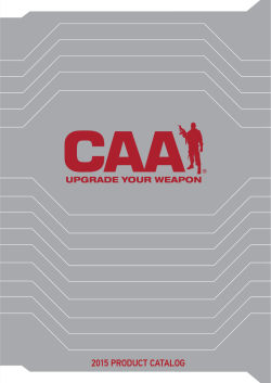 2015 PRODUCT CATALOG - Command Arms Accessories