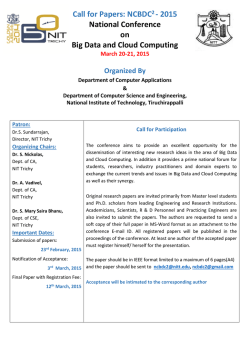 Mar20-21 - National Institute of Technology, Tiruchirappalli