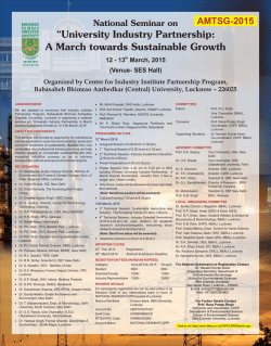 """University Industry Partnership: A March towards Sustainable Growth"
