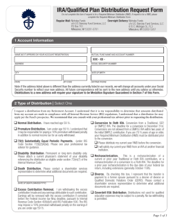 IRA/Qualified Plan Distribution Request Form