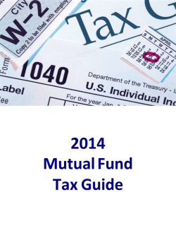 2014 Mutual Fund Tax Guide