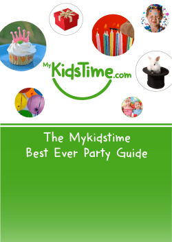 Download your FREE Mykidstime Guide to Kids Parties