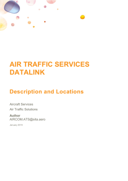 Air Traffic Services Datalink – Description and Locations
