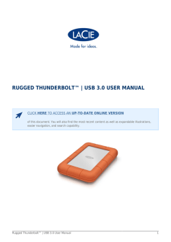 Rugged Thunderbolt™ | USB 3.0 User Manual