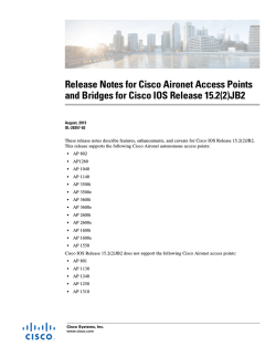 Release Notes for Cisco Aironet Access Points and Bridges for